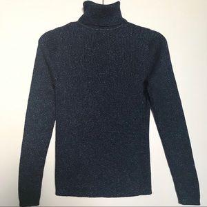 Moda International Navy Blue Turtleneck Sweater